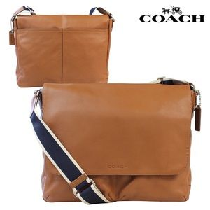 Coach crossbody messenger bag tan/navy